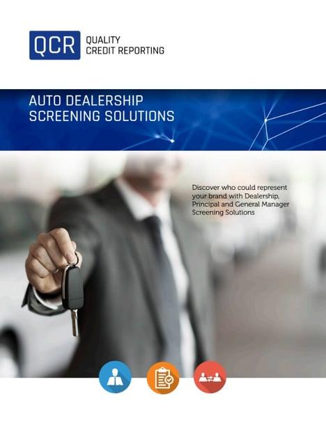 Quality Credit Reporting Auto Dealership Screening Brochure