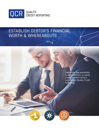 Debtors Financial Worth Report Flyer
