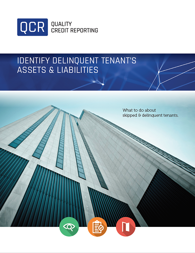 Identify Delinquent Tenant's Assets & Liabilities