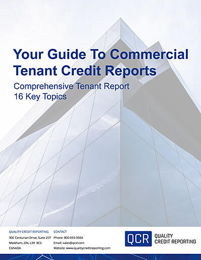 Your Guide To Commercial Tenant Credit Reports